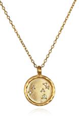 Leo Zodiac Gold Necklace