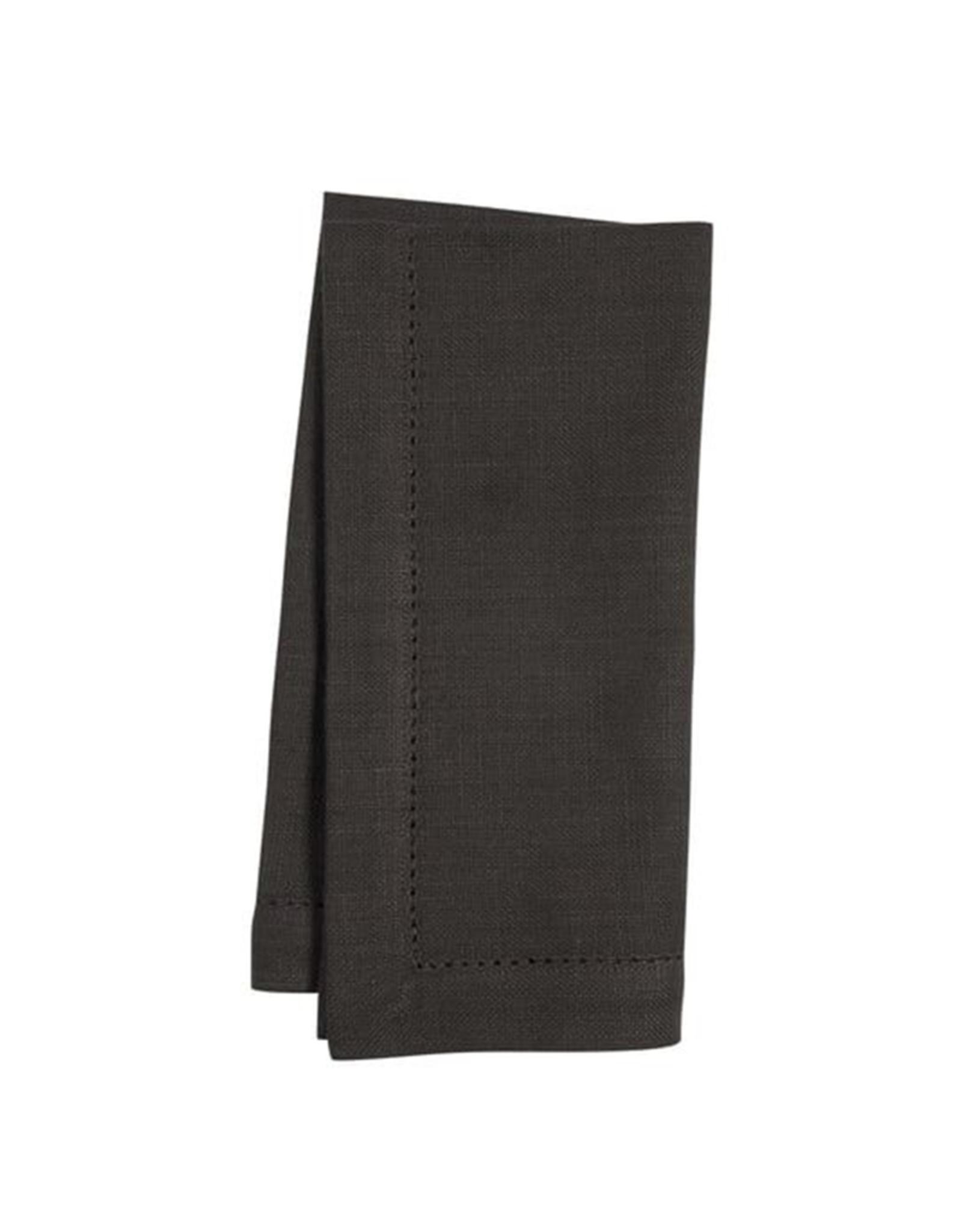 KAF Group Hemstitch Napkin in Black