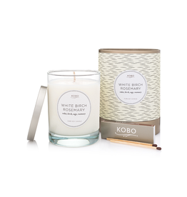 White Birch Rosemary Soy Candle
