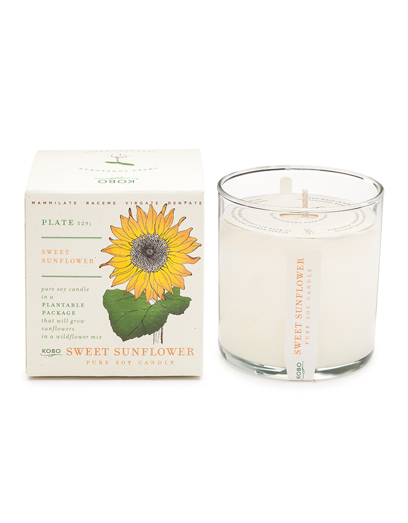 Sweet Sunflower Soy Candle with Seeds (Green Melon, Lemon, and Crisp Apple)