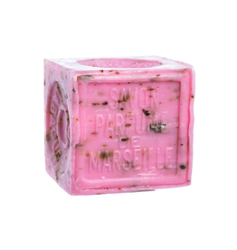 Savon de Marseille with Crushed Flowers: Rose Bar Soap-300 grams