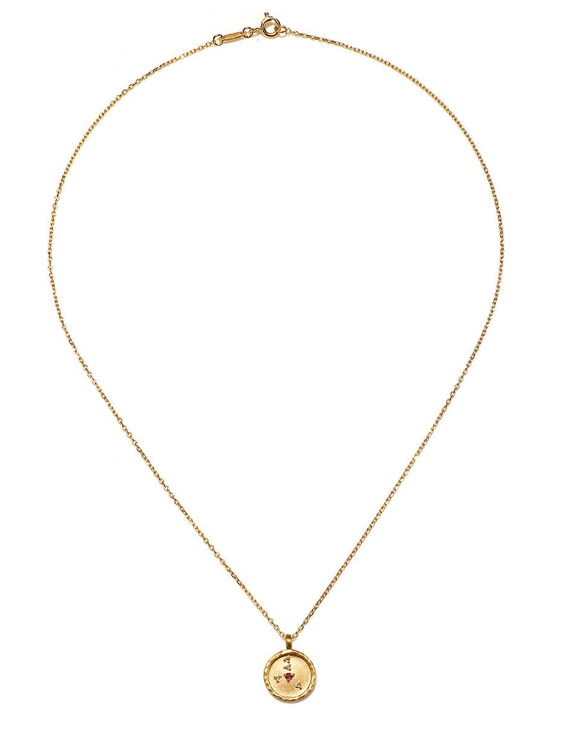 Cancer Zodiac Gold Necklace