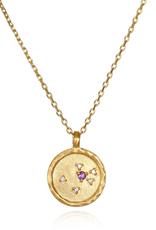 "Aquarius Zodiac Gold Necklace ""18"