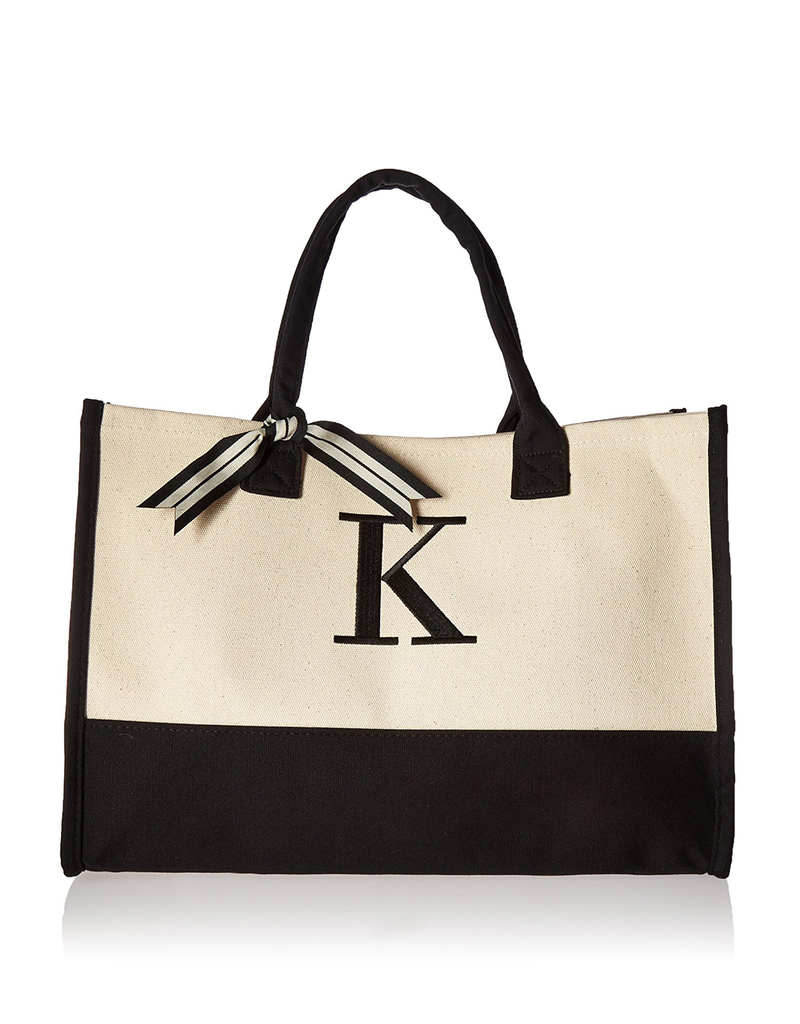 K-Initial Canvas Tote