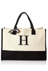 H-Initial Canvas Tote