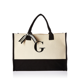 G-Initial Canvas Tote