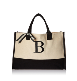 B-Initial Canvas Tote