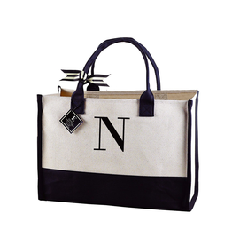 N-Initial Canvas Tote