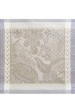 Garnier-Thiebaut Isaphire Platine Napkin 21 x 21