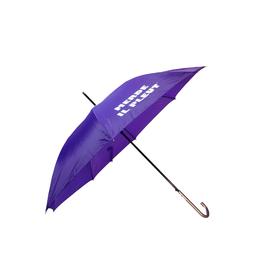 "CarefulPeach Boutique ""Merde Il Pleut"" Umbrella in Purple w/ White Text"