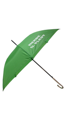 "CarefulPeach Boutique ""Merde Il Pleut"" Umbrella in Lime Green w/ White Text"