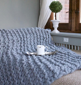 Super Chunky Grey Throw