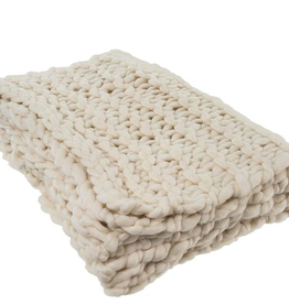 Super Chunky White Throw