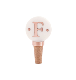 F-Initial Copper Wine Stopper