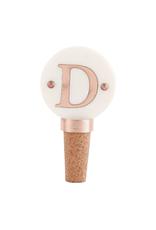 D-Initial Copper Wine Stopper