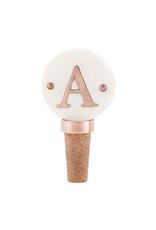 A-Initial Copper Wine Stopper
