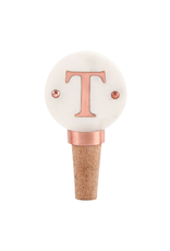 T-Initial Copper Wine Stopper