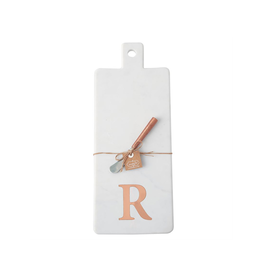 R Initial Copper & Marble Board