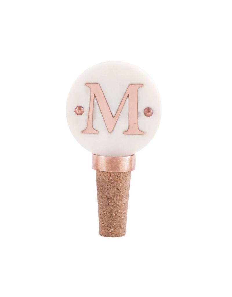 M-Initial Copper Wine Stopper