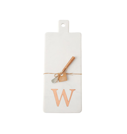 W Initial Copper & Marble Board