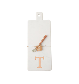 T Initial Copper & Marble Board