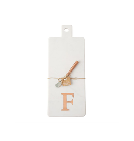 F Initial Copper & Marble Board