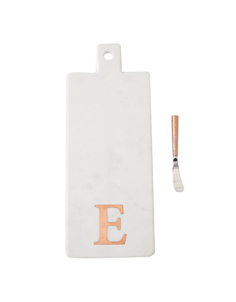 E Initial Copper & Marble Board