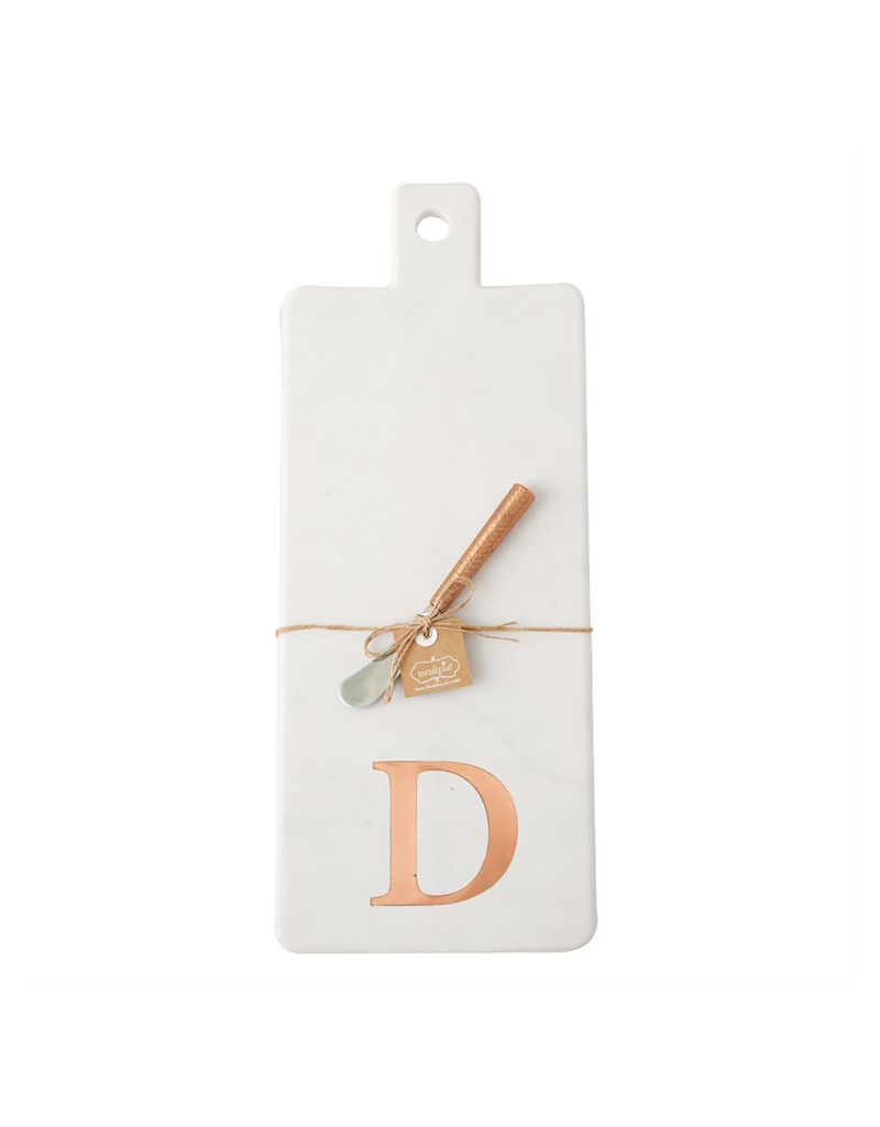 D Initial Copper & Marble Board