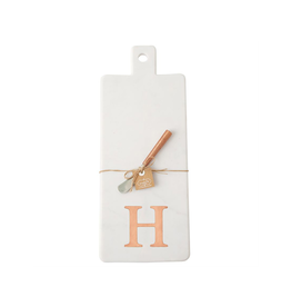 H Initial Copper & Marble Board