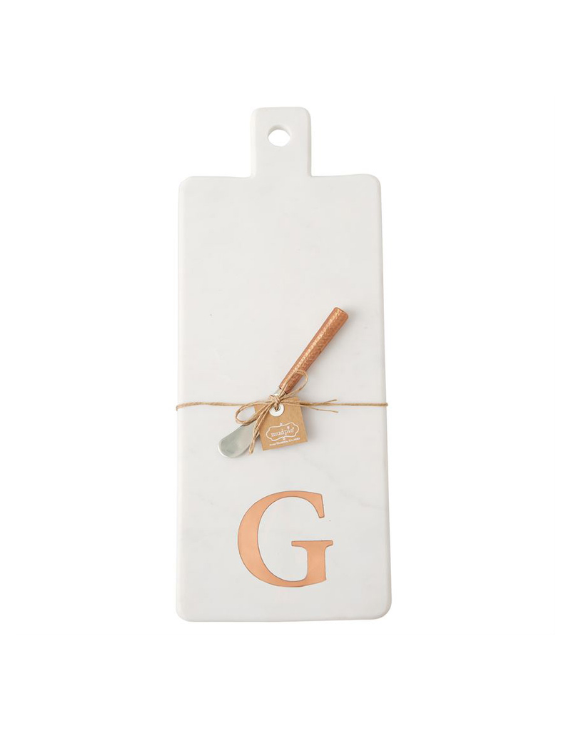 G Initial Copper & Marble Board
