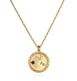 "Virgo Zodiac Gold Necklace ""18"
