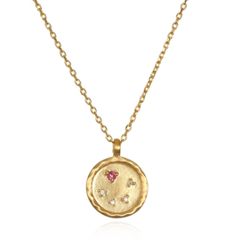 "Libra Zodiac Gold Necklace ""18"