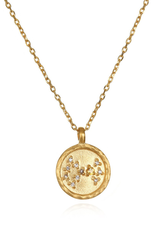 """Scorpio Zodiac Gold Necklace """"18"""