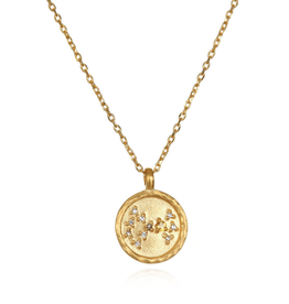"Scorpio Zodiac Gold Necklace ""18"