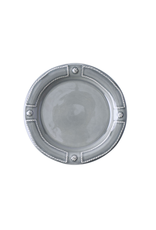 """Juliska Berry & Thread French Panel Stone Grey Side/ Cocktail Plate 7""""W"""