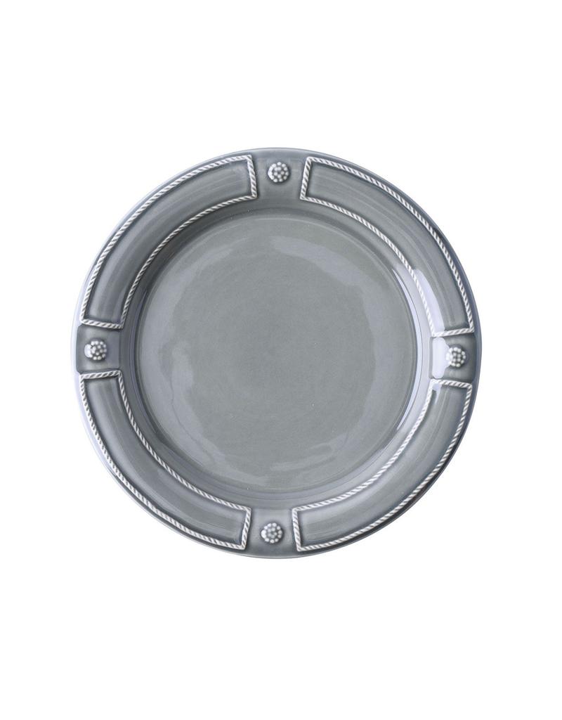"Juliska Berry & Thread French Panel Stone Grey Dessert/ Salad Plate 9"" W"