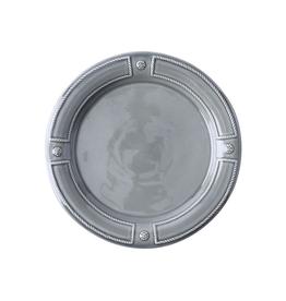 "Juliska Berry & Thread French Panel Stone Grey Dinner Plate 11"" W"