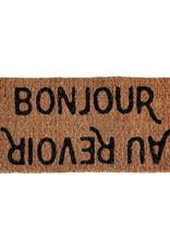 Creative Co-Op Bonjour/ Au Revoir Doormat