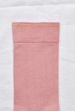 Bonne Maison Chaussette Uni Rose Pêche