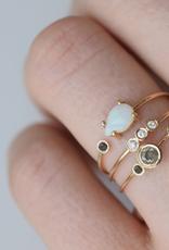 Salt and Pepper Diamond Adele Ring, Size 7
