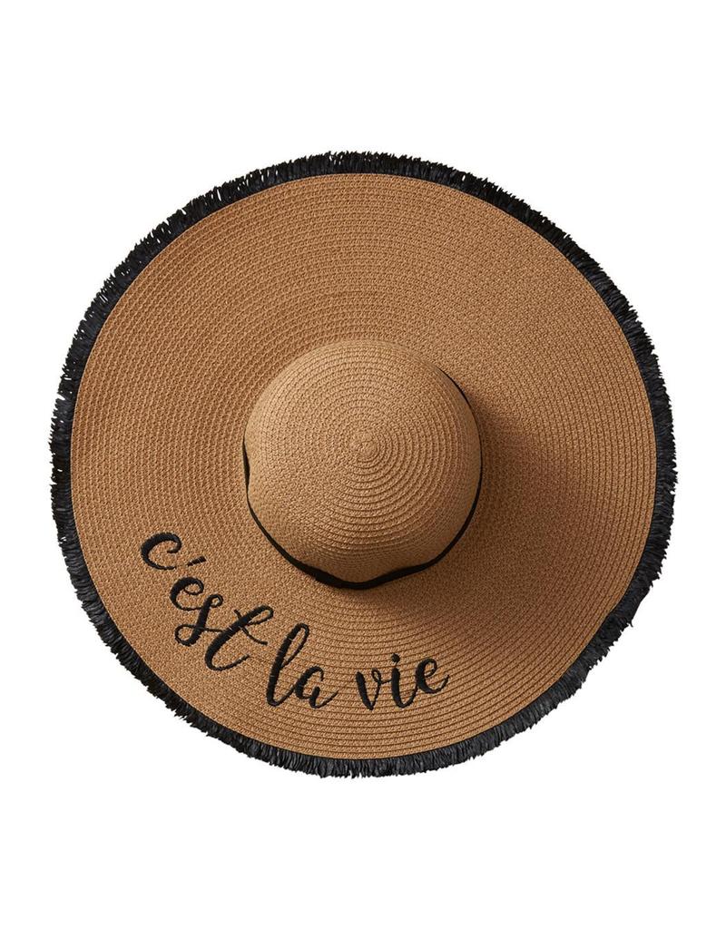 Tickled Pink C'est La Vie Sun Hat