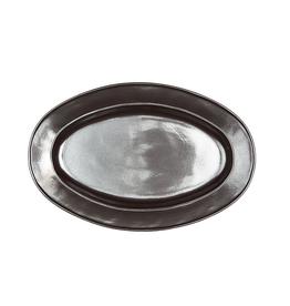 "Pewter Oval Platter, 15"" - Recived"