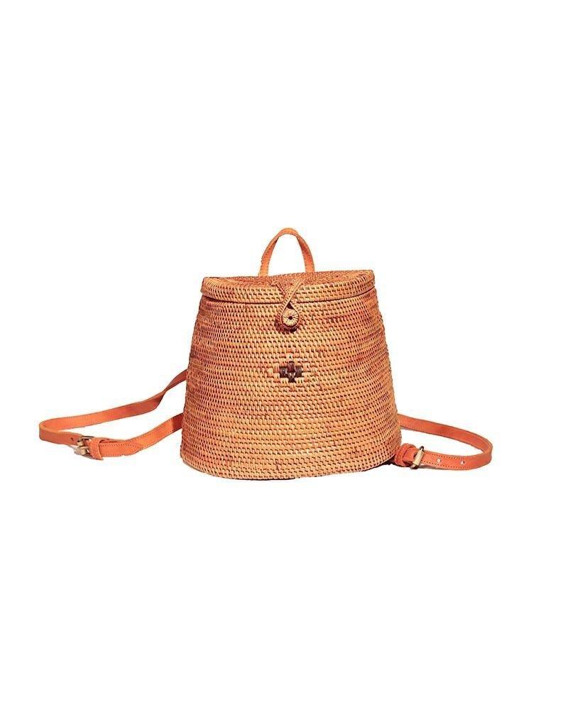 The Winding Road Handmade Ata Grass Basket Backpack