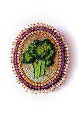 Celeste Mogador Broccoli Brooch