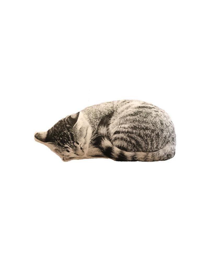 Faire Sleeping Cat Decorative Pillow