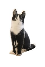 Faire Black & White Kitten Decorative Pillow