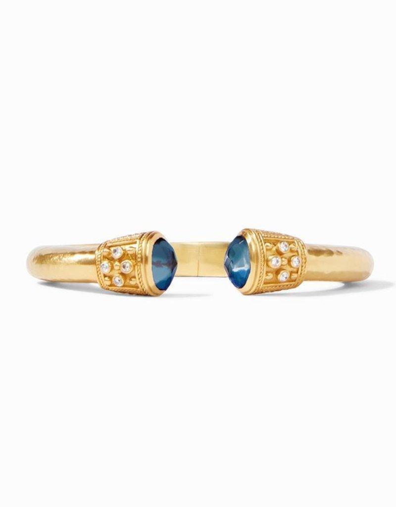 Paris Demi Hinge Cuff Gold Iridescent Azure Blue