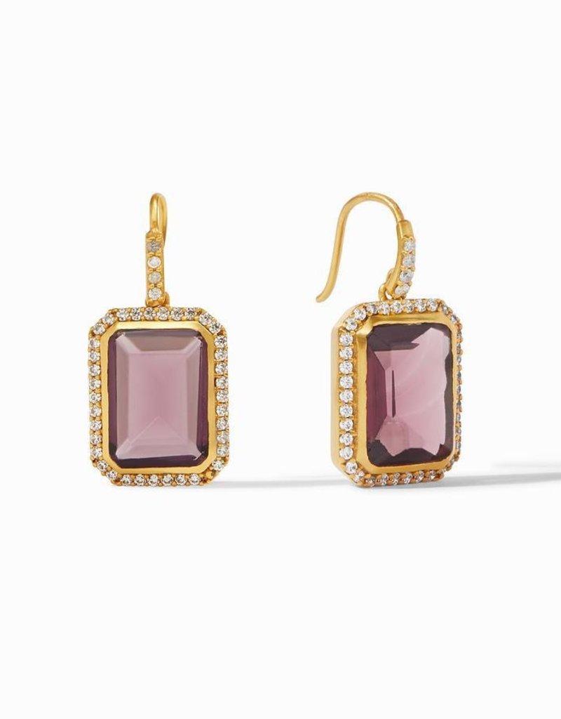 Clara Luxe Earring Gold Bordeaux