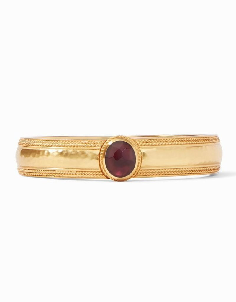 Coin Hinge Bangle Gold Iridescent Bordeaux