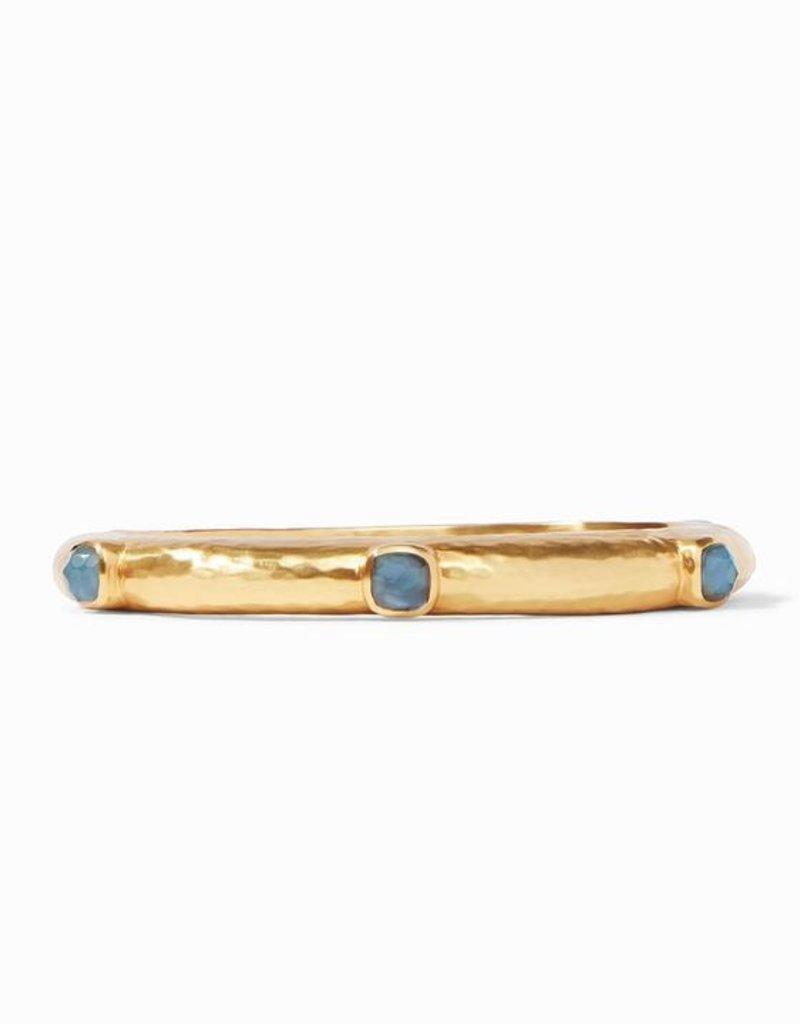 Catalina Hinge Bracelet Gold Iridescent Azure Blue